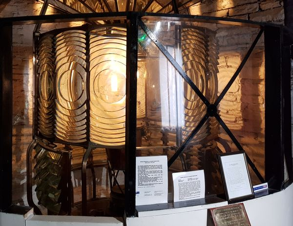 The fresnel lens from Noss Head lighthouse, now in Wick Heritage Centre