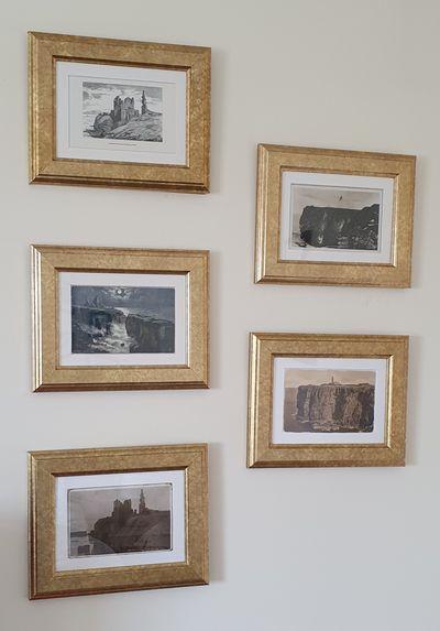 Vintage postcards of Castle Sinclair Girnigoe and Noss Head Lighthouse