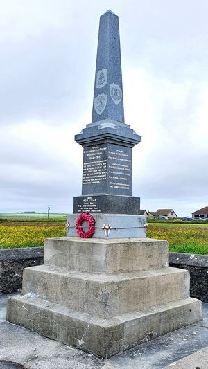 The War Memorial at Staxigoe