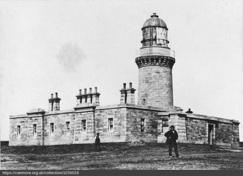 Noss Head Lighthouse in the 19th Century - Canmore